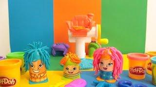 Brincando com Corte Maluco Cortes divertidos - Play-Doh Crazy Cuts Coiffures en folie