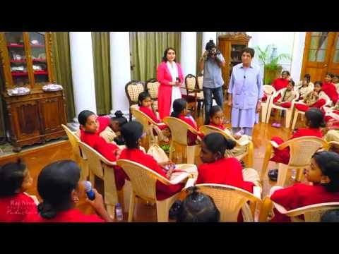 Isha Samskriti School Children at Raj Nivas
