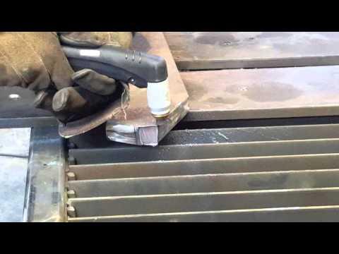 Plasma cutting 1 inch thick steel