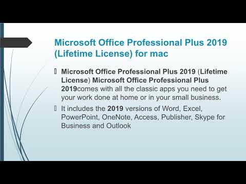 Buy Microsoft Office Home & Business 2019 for Mac Product Key