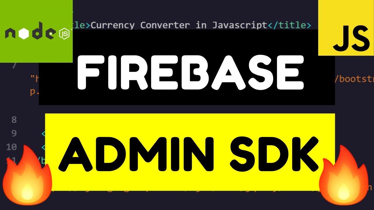 Node.js Express Firebase Admin SDK Server Side Authentication