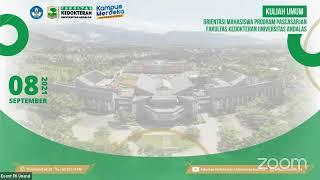 Orientasi dan Kuliah Umum Mahasiswa Program Pascasarjana Fakultas Kedokteran Universitas Andalas