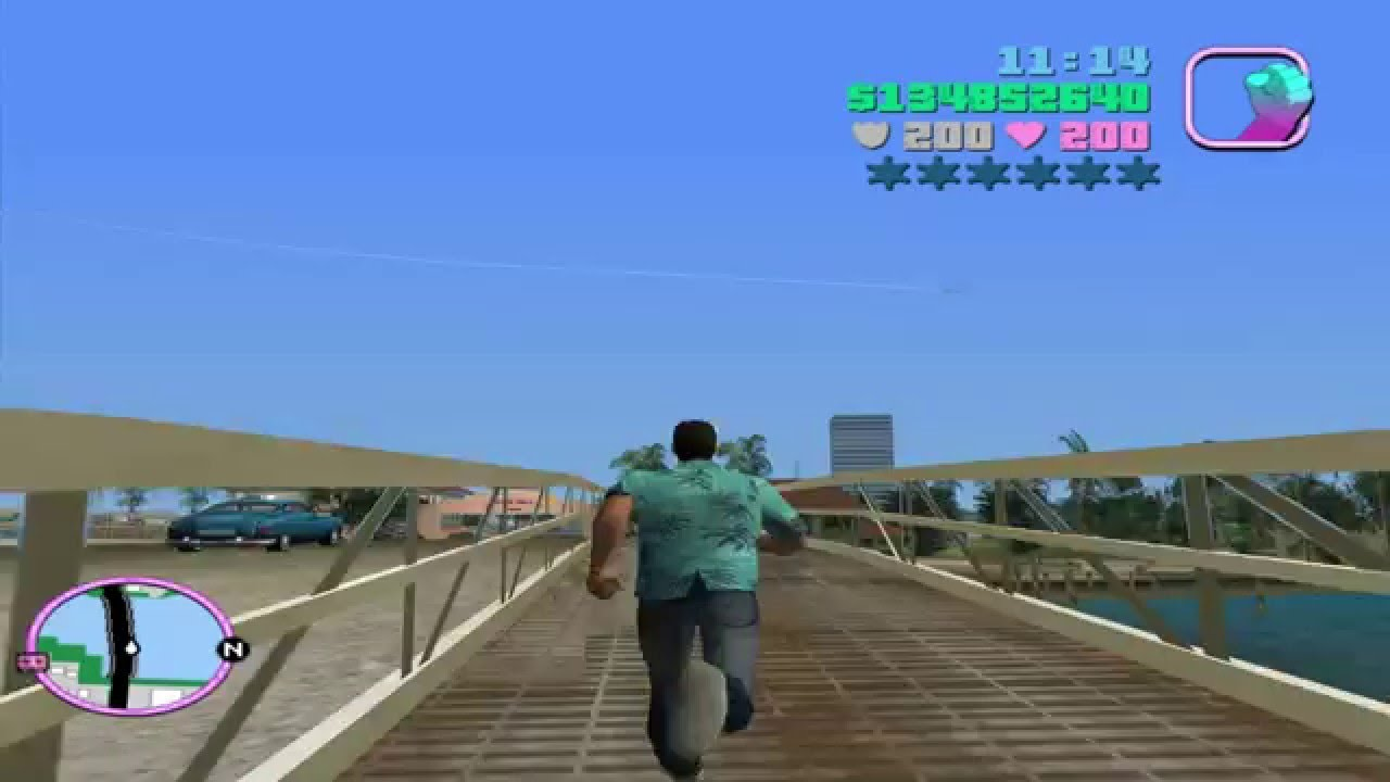HOW BIG IS THE MAP in GTA Vice City? Run Across the Map - YouTube