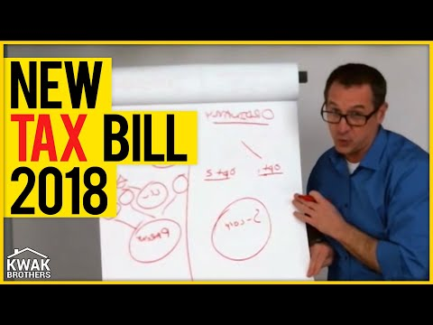 NEW Tax Bill 2018 - How will it affect real estate investors?