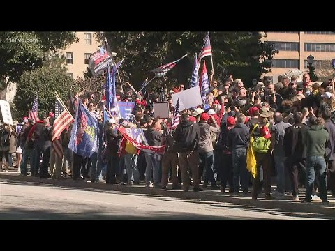 Alex Jones leads 'Stop the Steal' rally at Georgia's Capitol