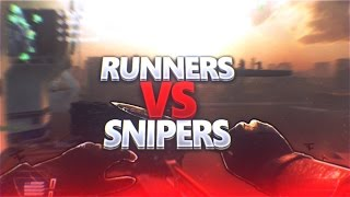 BO2 RUNNERS VS SNIPERS!(MODDED LOBBY!)