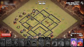 How to Three Star this Popular Th9 war base - Clash of clans - COC