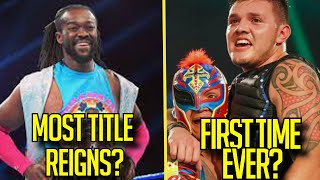 WWE RECORDS BROKEN This Year Kofi Kingston MOST Title REIGNS Mysterio RECORD Omos Record 2021