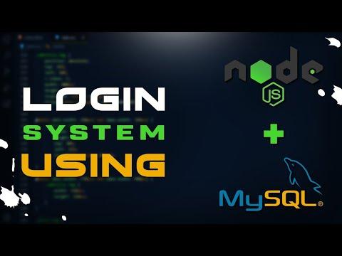 Login System Using NodeJS & MySQL Database