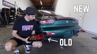 RX-7 FD Taillight install! [Depo style]