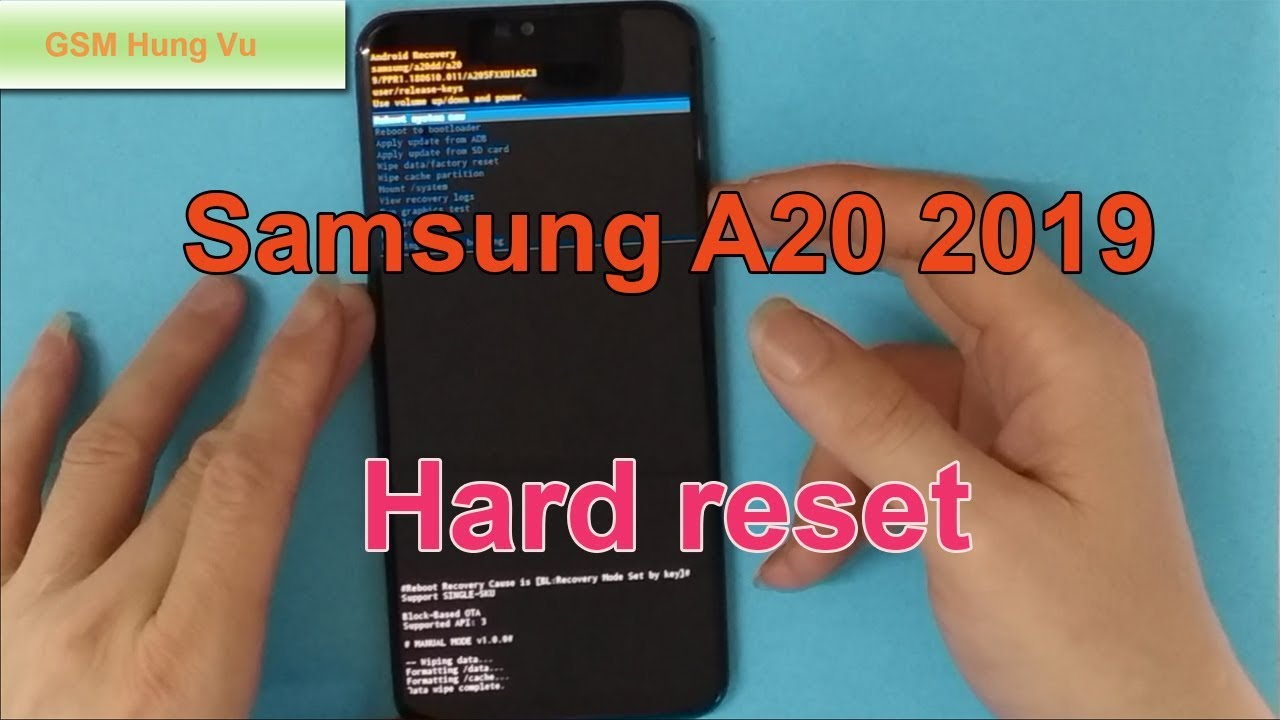 How To Hard Reset Samsung A119 (A1195) Forgot Pin Code Android 19.19.