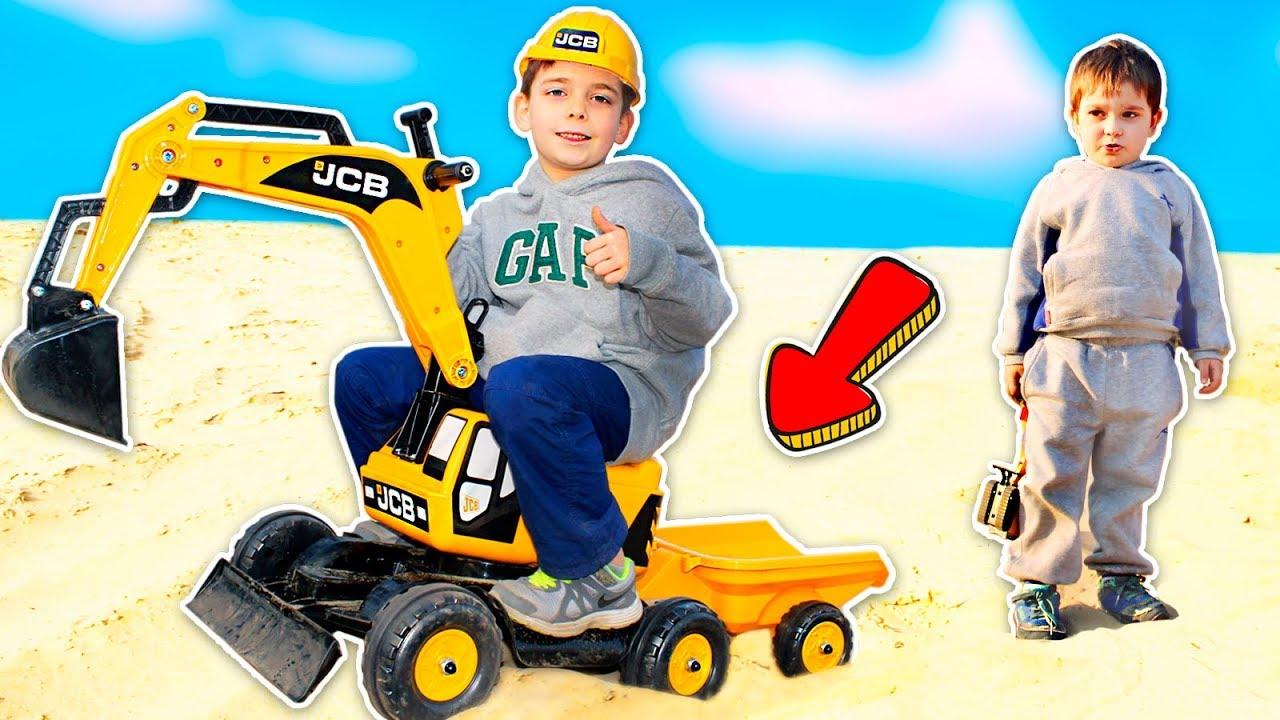 Распаковка и сборка Экскаватор бульдозер JCB  | Toys 2 Boys