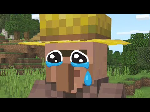 Bullying villagers in Minecraft