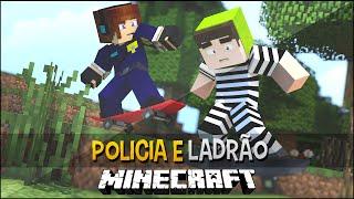 Policia e Ladrão - Manobras Mortais de Skate !! - Minecraft c/Skateboarding Mod