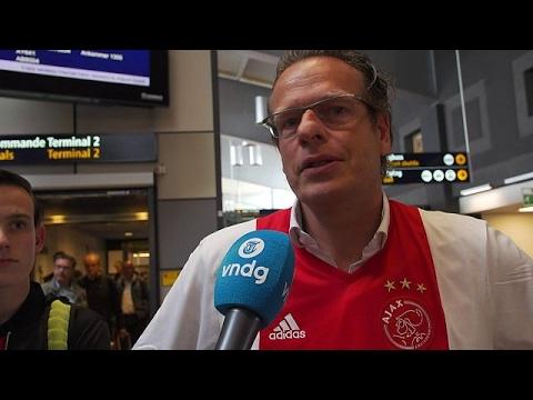 Ajaxfans aangeslagen in Stockholm