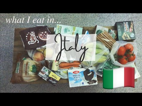 GROCERY HAUL IN ITALY & WHAT'S IN MY CUPBOARD/FRIDGE (vegetarian student on semester abroad)