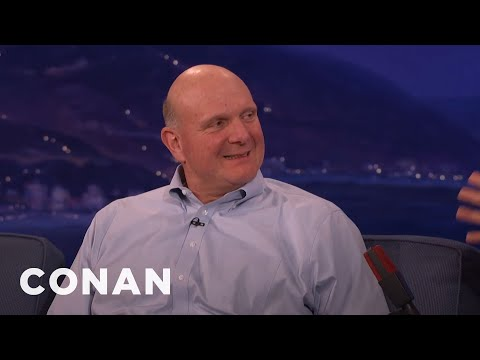 Steve Ballmer Beat Bill Gates In A Math Competition  - CONAN on TBS