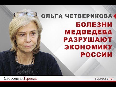"""Ольга Четверикова: """"Болезни"""" Медведева разрушают экономику России"""