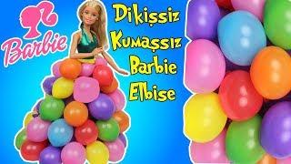 Barbie Bebeğime Balondan Elbise | Dikişsiz Kumaşsız Kolay Barbie Kıyafet Yapımı | Bidünya Oyuncak