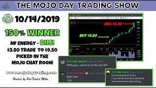 $BIMI from $3.80 to $9.80 🧗‍♂️ The Mojo Day Trading Show