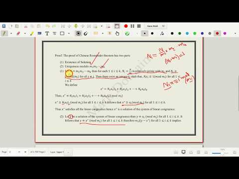 Number Theory: Chinese Remainder Theorem