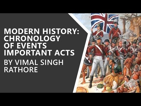 Modern History - Chronology of Events, Important Acts, and Governor Generals - Vimal Singh