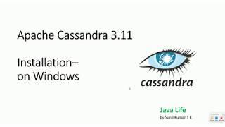 No Datastax - Apache Cassandra 3.11 - Windows installation