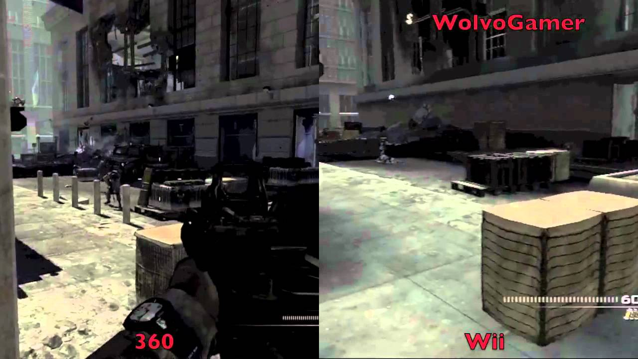 Mw3 Call Of Duty Modern Warfare 3 Wii Vs 360 Side By Side Youtube