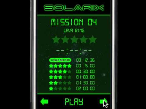 Solarix: solar system simulator game for iPhone