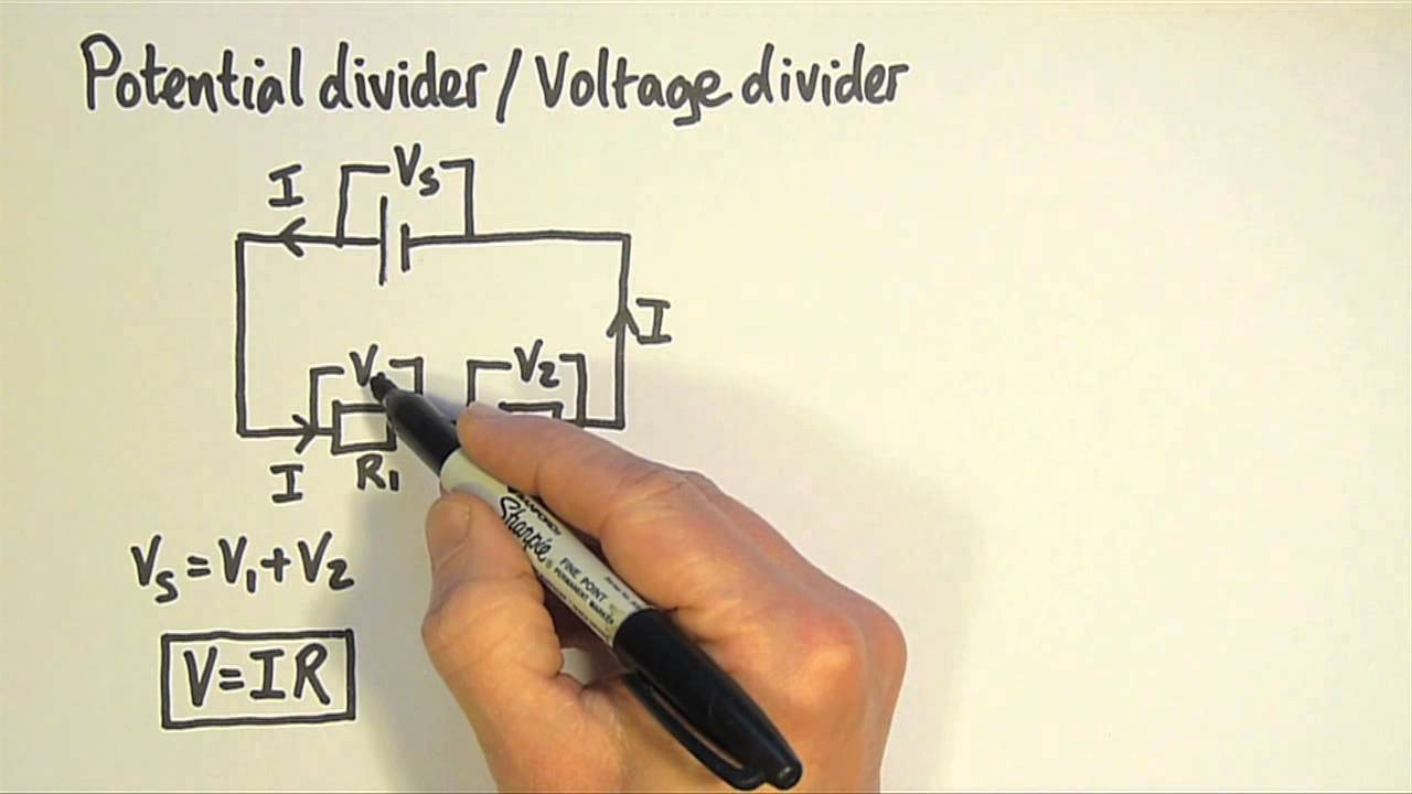 Simple Circuit Is Called A Voltage Divider In Which Two Resistors Potential 1 Youtube