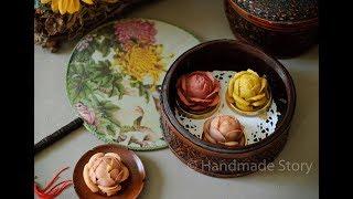 月饼系列—花卉月饼 Mooncake Series—Flower mooncake