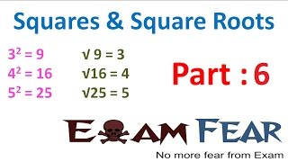 maths square and square roots part 6 perfect square sum of consecutive odds cbse class 8