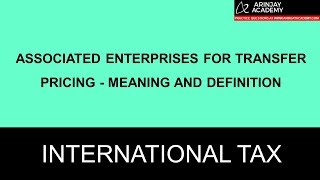 CA Final International Tax Video Lectures on transfer Pricing
