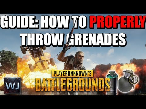 GUIDE: How to PROPERLY throw GRENADES in PLAYERUNKNOWN's BATTLEGROUNDS (PUBG)