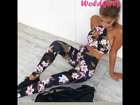Women Lorena Fitness Corp Tops Yoga Set
