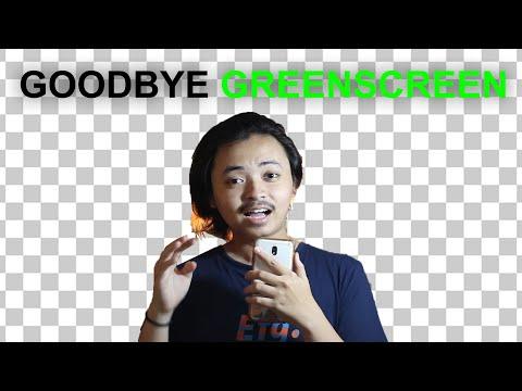 cara menghilangkan background video tanpa green screen.
