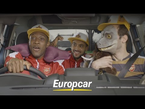 Europcar presents: Three Arsenal players in a hire car - Follow Walcott, Cech & Welbeck on the road!