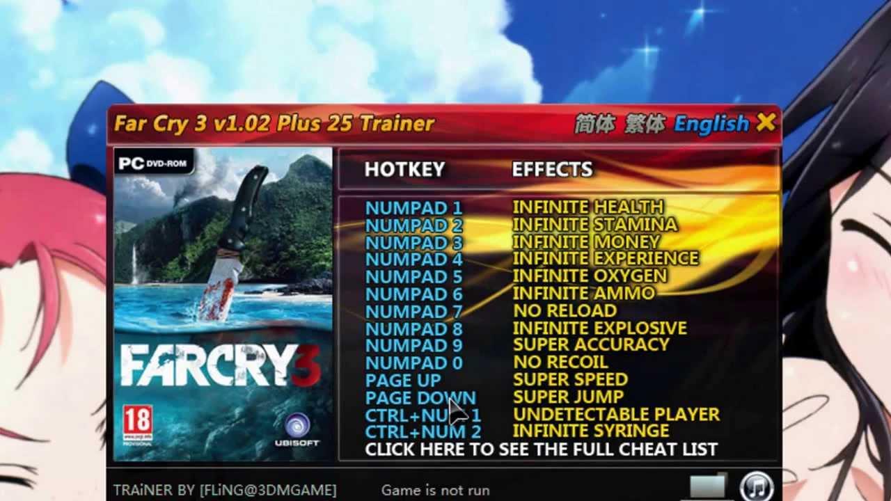 Far cry 3: трейнер/trainer (+16) [1. 05] {grizzly / playground. Ru.