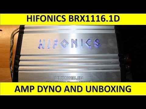 Hifonics BRX1116.1D Amp Dyno and Unboxing