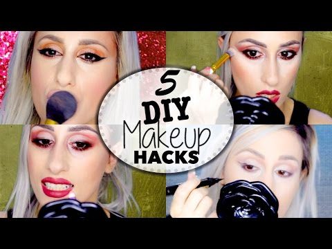 5 QUICK AND EASY DIY BEAUTY & MAKEUP HACKS ! // DYNA