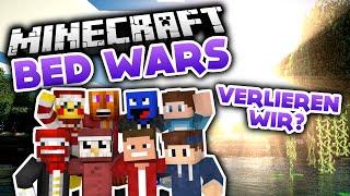 Verlieren wir? - YouTuber Battle - Minecraft Bed Wars (Deutsch/German)