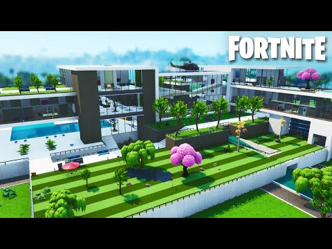 The Biggest Modern Mansion Ever! (Tilted Towers Size) Fortnite Timelapse Build