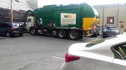 Waste management truck with a new driver