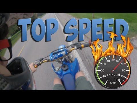 YZ85 TOP SPEED!