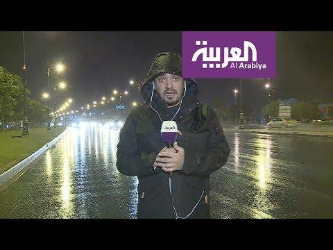 قناة العربية تنتظر إعصار مكونو على جبال صلالة العمانية
