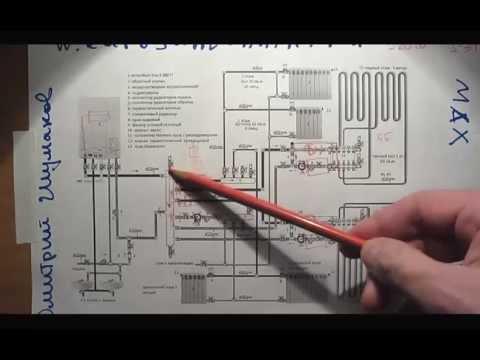 видео: Разбор схемы отопления