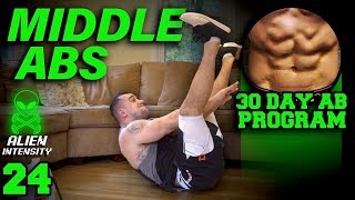 Middle Abs Workout At Home | 30 Days to Six Pack Abs for Beginner to Advanced Day 24