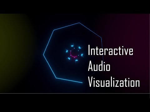 Interactive Audio Visualization (made using Phyllotaxis algorithm)