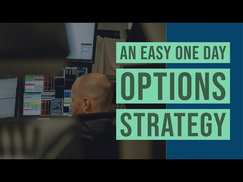 An Easy One Day Options Strategy