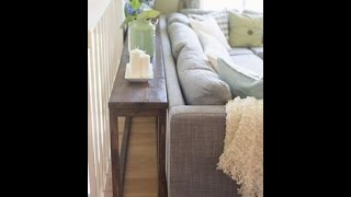 10 Unique Thin Sofa Table Designs - Tablespedia